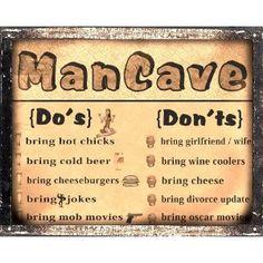 Mancave Beer funny sign bar tavern pub / bathroom vintage retro wall art