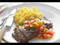Recipes - Grilled Skirt Steak with Fruit Salsa Cooking #Recipes #recipe #cook #food