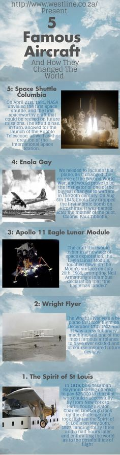 5 Famous Aircraft and How They Changed The World Infographic