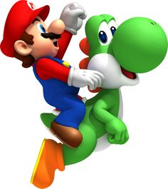 http://www.mariowiki.com/images/f/f8/Mario_Yoshi_NSMBW.png Super Mario Bros is a game my whole family enjoys playing. WE all have good memories of playing the game on the wii all together. It's a lot of fun and we played it all the time, we still do!