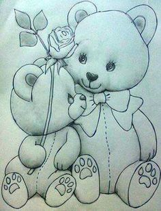 So cute for the holiday season! Art Drawings For Kids, Pencil Art Drawings, Art Drawings Sketches, Disney Drawings, Cartoon Drawings, Cute Drawings, Animal Drawings, Baby Embroidery, Hand Embroidery Designs