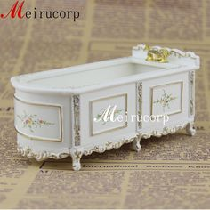 1 12 Scale Fine Dollhouse Miniature Collectible Furniture White Painted Bathtub | eBay