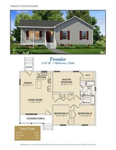Take a look at all of Trinity Custom Homes Georgia floor plans here! We have a lot to offer so cont&; Take a look at all of Trinity Custom Homes Georgia floor plans here! We have a lot to offer so […] Homes Cottage floor plans House Plans 3 Bedroom, Dream House Plans, Tiny House 3 Bedroom, Floor Plan 3 Bedroom, 1200sq Ft House Plans, Tiny Guest House, 30x40 House Plans, Small Floor Plans, Small House Plans