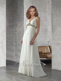 Halter Charmeuse Satin Floor Length Gown Wedding Dress 4009