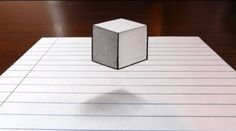 Jonathan Harris shows you how to draw (and cut) your way to this floating cube illusion. His YouTube channel has many more drawing illusions like it. Previously in floating cube illusions: cool flo…