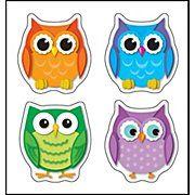 Carson-Dellosa Colorful Owls Shape Stickers #CDWishlist