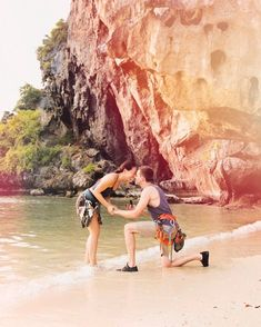My little sister got engaged while we were in Thailand! Wedding inspiration, engagement story, proposal, rock climbing, Thailand travel. Nick And Sams, Wedding Dreams, Dream Wedding, Surprise Engagement, Engagement Stories, Proposal Photos, Thailand Wedding, Blogilates, Perfect Angle