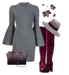 """Bell Sleeves and Over-The-Knee Boots"" by ragnh-mjos ❤ liked on Polyvore featuring Lust For Life, Milly, Maison Michel and Miu Miu"