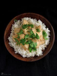 """Poznámka z 5.3.2012:  Pôvodne tu tento recept bol vložený ako """"Murgh Makhani"""". Keďže mám teraz dobrého konzultanta na indickú kuchyňu, obo... Grains, Indie, Rice, Meat, Food, Essen, Meals, Seeds, Yemek"""