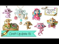 [Fimora Art] ... Craft Update Nr. 10 ... Polymer Clay Creations - YouTube