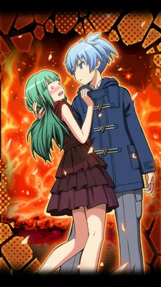 That kiss... d(^_^o) - DA | Kayano Kaede and Nagisa Shiota | Assassination Classroom