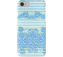 Blue Water Rain Garden iPhone Case/Skin by Polka Dot Studio, new l blue l clean l water l Bohemian l stripe l paisley inspired l art on tech accessories. iPhone l iPhone7 l Samsung l cases that are trendy and functional. Available on other tech products l home decor l fashion accessories l apparel l T's and hoodies.