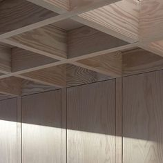 A coffered ceiling made from Douglas Fir covers the dining area in Jonathan's Tuckey's 'Doyle Gardens' extension to this semi-detached home in London.