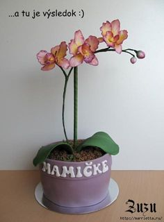 How to make an orchid cake....