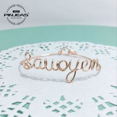 Pulseira Nome personalizado, ouro/Prata Esterlina/Envoltório Fio de Cobre artesanais DIY carta Personalizada Qualquer Palavra Pulseira Jóias de Presente da mulher