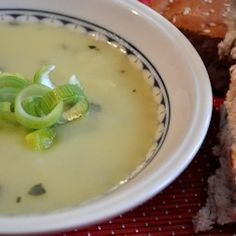 Soup Maker Recipe:  Leek, Potato and Garlic Soup