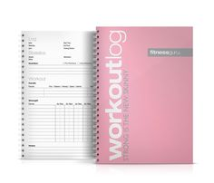 Workout Log Pink   Fitnessguru    Might be a good idea for me.