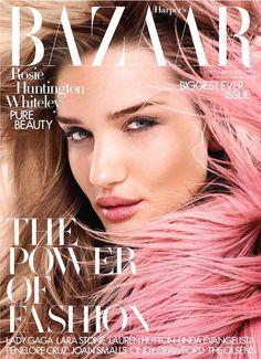 cool Harper's Bazaar UK Setembro 2014 | Rosie Huntington-Whiteley por David Slijper