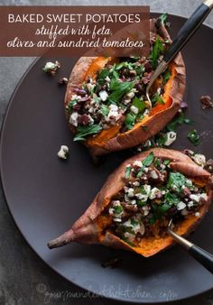 These sweet potatoes are filled with so many delicious things!