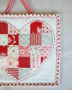 valentine heart patchwork
