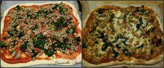 pizza spinaci e salsiccia Collage finito