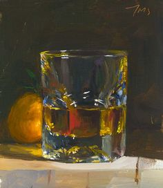 daily painting titled Whisky and clementine - click for enlargement