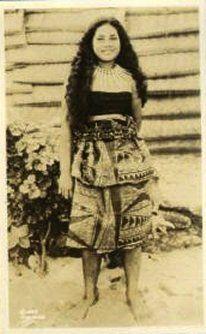 Samoan maiden (pretty Princess Ivory Mary Frances Laulu )