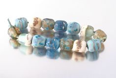 Organic style nugget beads