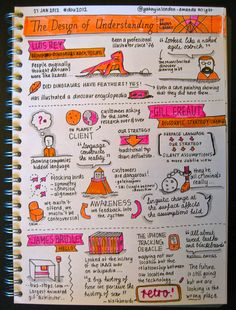 The Design of Understanding - Luis Rey, Gill Ereaut & James Bridle Visual Note Taking, Note Taking Tips, Cute Notes, Pretty Notes, Study Skills, Study Tips, Formation Management, School Goals, Law School