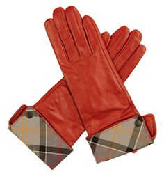 Barbour Lady Jane Leather Glove Red/Mode Finish off the outfit with a splash of colour and #Barbour #Leather #Gloves #Bestinthecountry