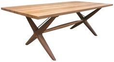 """Dark walnut dining table featuring an applied wax which allows the table to age naturally over time.  84"""" X 41.5"""" X 30"""" H"""