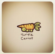 Is it the magic carrot though 🤔 Cute Turtle Drawings, Doodle Drawings, Easy Drawings, Animal Drawings, Sweet Turtles, Cute Turtles, Baby Turtles, Tiny Turtle, Turtle Love