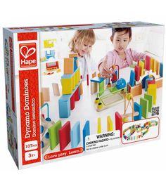 Construye una fila de 100 coloridos dominós de madera. Pon un puente…Montessori para todos 30 €