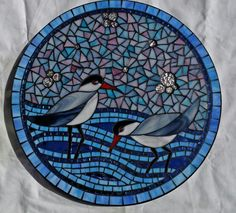 Wading birds lazy susan by Glenys Fentiman