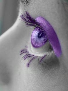 Purple eye art