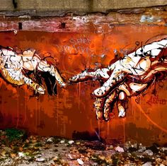 CREATION OF ADAM GRAFFITTI - BRICK LANE, LONDON by ASmallWorld - Abstracts Collection