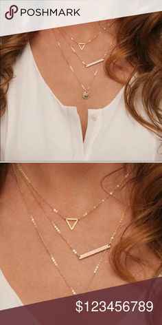 COMING SOON   3 Layer Delicate Necklaces  Wila Jewelry Necklaces