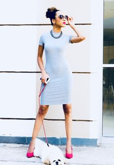 #tubinho Short Sleeve Dresses, Dresses With Sleeves, Dresses For Work, Fashion, Moda, Fashion Styles, Gowns With Sleeves, Fashion Illustrations, Fashion Models