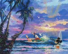 "Disney ""SUMMER ESCAPE"" Size: 16 x 20   Giclée on Canvas   EDITION 195"