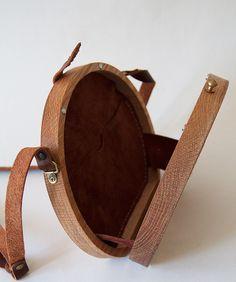 Rose Cross Stitched Oak Wood Bag by Grav Grav $560 Handmade Handbags & Accessories - http://amzn.to/2iLR27v