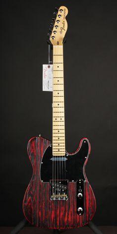 Fender Limited Sandblasted Telecaster Crimson Red Transparent Tele Guitar   eBay