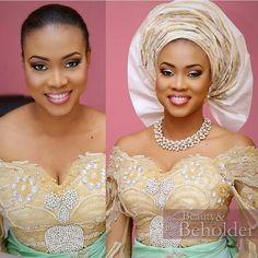 """Breathtaking! Ake-Obong, Beautiful bride from Akwa Ibom state. Makeup by @beautyandthebeholdermakeovers #bellanaijaweddings"""