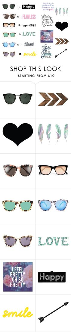 """""""flawless quotes"""" by vvalenzuela on Polyvore featuring Spitfire, WALL, Brika, Lilly Pulitzer, Gentle Monster, Elizabeth and James, Wildfox, Quay, Prada and Trademark Fine Art"""