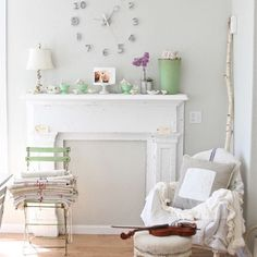 66 Shabby Chic Living Room Ideas - Combine old and new in the living room design - Home Decoration Shabby Chic Lounge, Salon Shabby Chic, Shabby Chic Mode, Modern Shabby Chic, Style Shabby Chic, Shabby Chic Interiors, Shabby Chic Cottage, Rustic Chic, Cottage Style