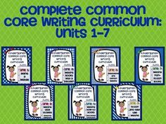 A complete Common Core writing curriculum for the whole year!  Minilessons, posters, rubrics, graphic organizers, printables, posters.  $