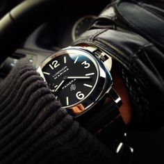 dark luminor panerai style men watch