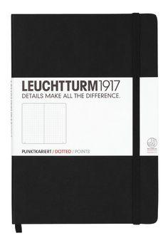 Leuchtturm1917 329398 Carnet Medium (A5), 249 pages numérotées, noir…