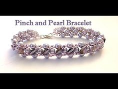 94) Pulseira de Pérolas (lindaaa!!!!) - Pinch 'n Pearls Bracelet by- JRPDesigns Beading Channel