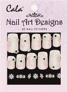 Bundle 3 Items :2x Cala Jeweled 3d Nail Art Stickers X2 Packs Flowers -86390   1x Aviva Nail File -- You can get additional details at the image link.