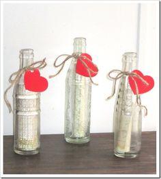 valentine's day: message in a bottle